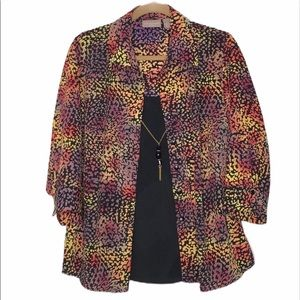 Kim Rodgers blouse with necklace. 1X